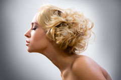 Face of beautiful young woman Stock Photography