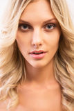 Face of beautiful young woman Royalty Free Stock Images