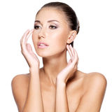 Face of a beautiful young woman with healthy skin Royalty Free Stock Photography