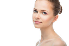Face of a beautiful young woman Royalty Free Stock Photography