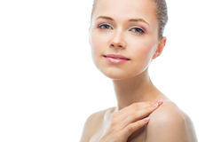 Face of a beautiful young woman Royalty Free Stock Image