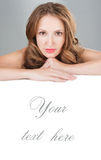 Face beauty skin care. stock photography