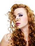 Face of a Beauty woman with fashion make-up Royalty Free Stock Image