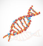 DNA blood cell graphic concept logo Royalty Free Stock Photo