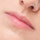 Face of beauty young woman. Lips zone Royalty Free Stock Photos
