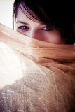 Face behind veil Royalty Free Stock Photo
