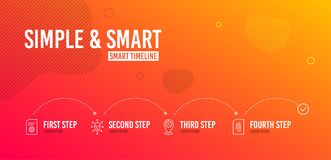 Face biometrics, File settings and Timer icons set. Attachment sign. Vector. Infographic timeline. Face biometrics, File settings and Timer icons simple set stock illustration