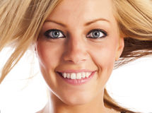 Face of a blonde girl Stock Photography