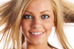 Face of a blonde girl Royalty Free Stock Images