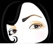 Face bonita Ilustração Stock