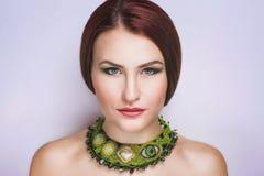 Face bonita da mulher fotos de stock