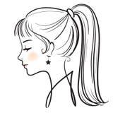 Face bonita da mulher ilustração royalty free