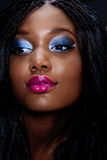 Face bonita da mulher africana fotografia de stock royalty free