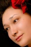 Face bonita da mulher nova Foto de Stock