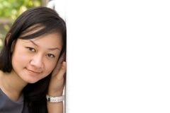 Face bonita da mulher nova asiática imagens de stock