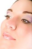 Face bonita da mulher nova com grande composição Fotos de Stock