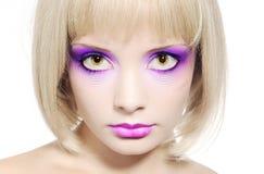 Face bonita da rapariga   Fotos de Stock
