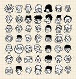 Face bonito dos desenhos animados ilustração stock