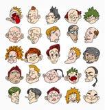 Face bonito dos desenhos animados ilustração royalty free