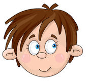 Face of boy. Illustration of a face of boy Stock Image