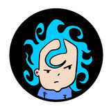 Face boy icon Royalty Free Stock Photography