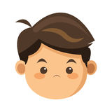 face of boy icon Royalty Free Stock Photography
