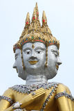 Face of brahma. Face of brahma statue in Thai art style stock image