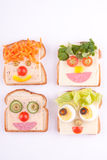 Face on bread Royalty Free Stock Images