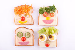 Face on bread Stock Photography