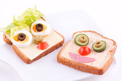 Face on bread Stock Images