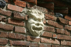 Face in the bricks Stock Image