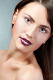 Face with bright fashion make-up Royalty Free Stock Photo