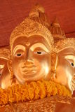 Face of Buddha. Buddhist statue - could be used to indicate travel to Asian countries, or Stock Photo