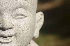 The Face of Buddha. Closeup view of a statue of Buddha Stock Photography