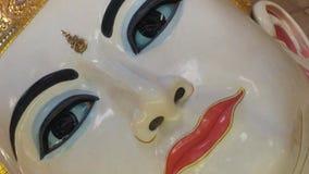The face of Buddha. The face of beautiful eye Buddha in Yangon Myanmar Stock Image
