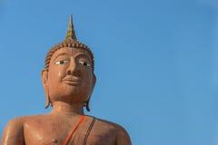 Face of Buddha on Blue background Royalty Free Stock Photos