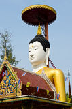 Face of buddha with blue sky Royalty Free Stock Photography