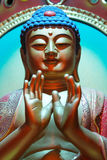 Face of Buddha. And hand of god royalty free stock photos