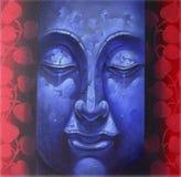 Face of buddha illustration painting meditation Stock Photo