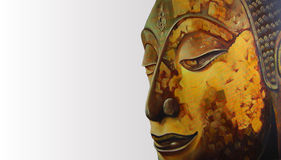 Face of Buddha illustration painting meditation Royalty Free Stock Images
