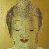 Face of Buddha illustration painting meditation Stock Photo