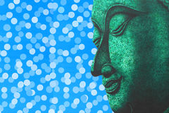 Face of Buddha illustration painting meditation Royalty Free Stock Photo