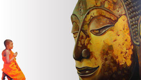 Face of Buddha illustration painting meditation Royalty Free Stock Photos