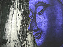 Face of Buddha illustration painting meditation Stock Images