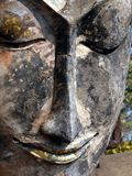 Face of Buddha image in Wat Phra Kaeo Royalty Free Stock Photos