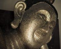 Face of Buddha sculpture closeup Royalty Free Stock Photography