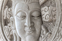 The face of Buddha Stock Images