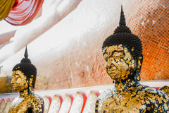 Face of Buddha statue for Buddhism religion Stock Image