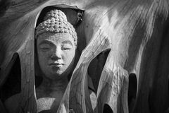 The face buddha statue close-up.Thailand. Royalty Free Stock Photos