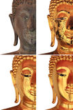 Face of Buddha Statue Collection Royalty Free Stock Image